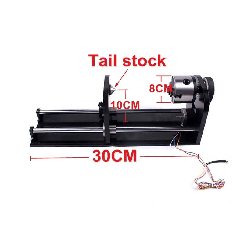 Universal Slide Rotary Axis 80MM 3 Jaw Fourth Axis For Co2 Laser Engraving Cutting Machine Cutter Engraver