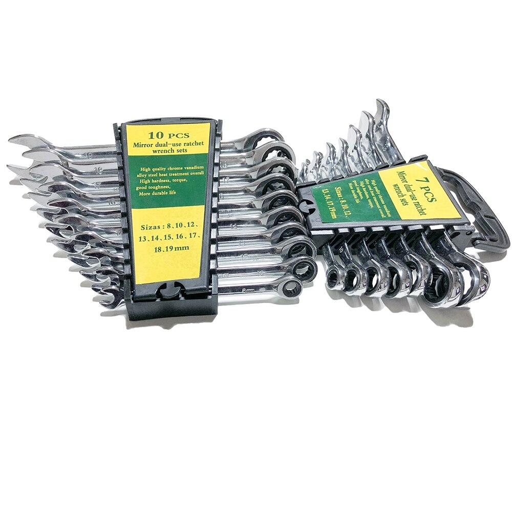 8-19 mm raktų rinkinio reketavimo dėžutės kombinuoti - Rankiniai įrankiai - Nuotrauka 2
