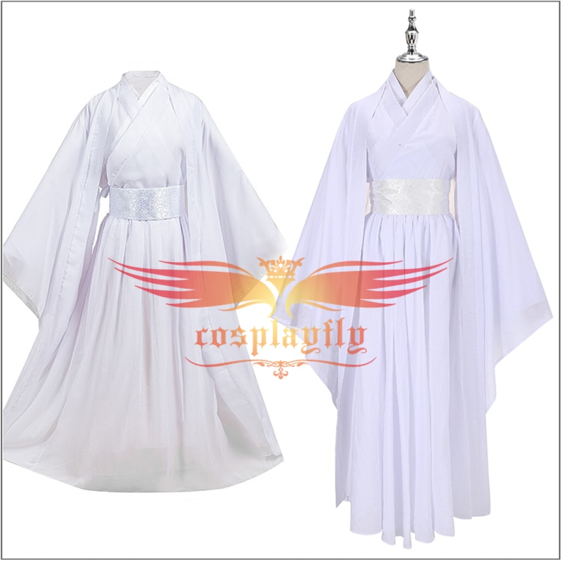 Anime Heaven bendición oficial Xie Lian disfraz Cosplay blanco cinturón de Kimono adultos hombres mujeres Han chino ropa Top vestido