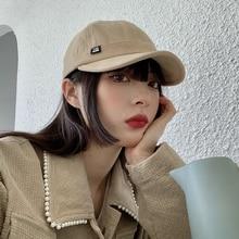 Hat Female Ins Fashion Brand Korean Style All-Matching Baseball Cap Internet Celebrity Beige Short B