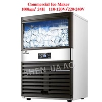 100kg24h ice makers 110v220v ice making machine milk tea room small bar coffee shop fully automatic large ice cube machine
