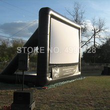 Écran de cinéma gonflable de Projection de projecteur de lécran 4M 6M 7M pour le parc extérieur de stade darrière-cour de partie à la maison