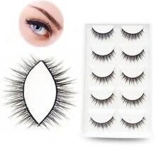 10pcs/set Sexy Fake Eyelashes Acrylic Hair Thick Natural Long False Eyelashes Charming Women Eye Mak