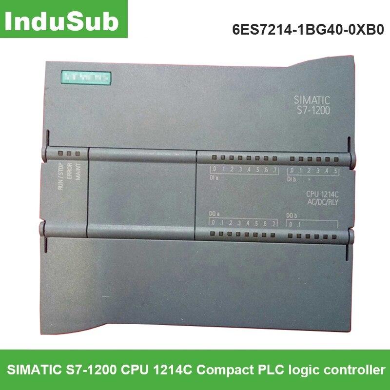 6ES7214-1BG40-0XB0 PLC SIMATIC S7-1200 وحدة المعالجة المركزية 1214C وحدة تحكم منطقية قابلة للبرمجة 1bg40 plc autoata تحكم جديد الأصلي