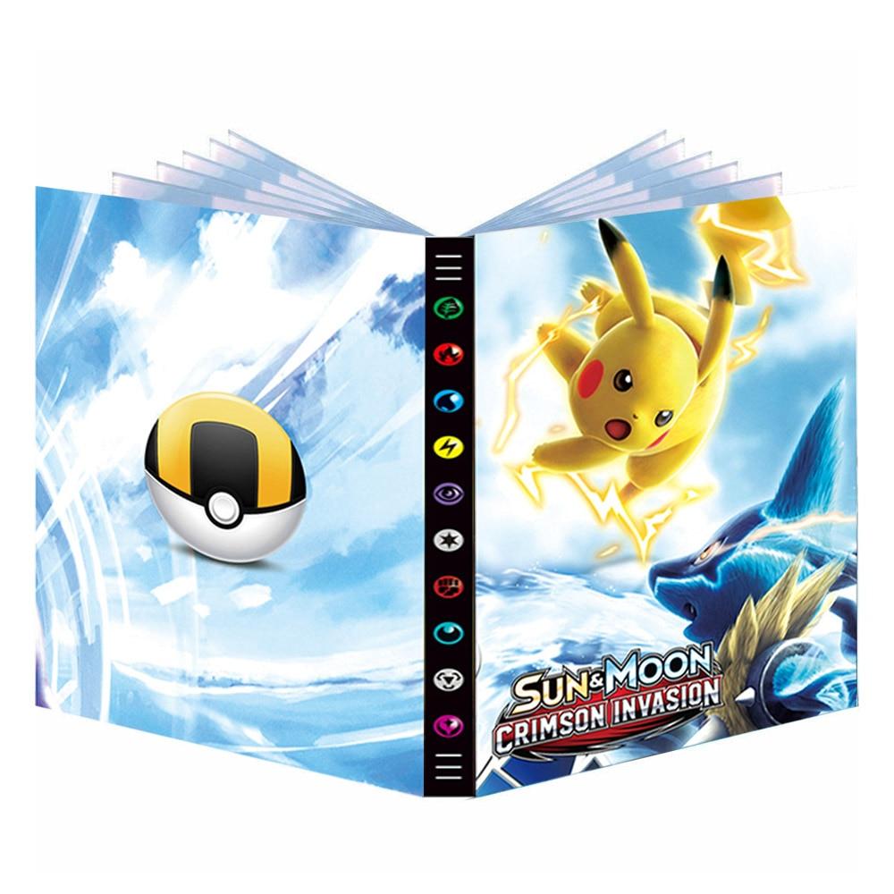 Альбом карт Pokemon, держатель карт Pokemon, папка для карт TAKARA TOMY Kids 432 шт., книга для карт Pokemon Game, торговые карты GX EX, коробка, папка