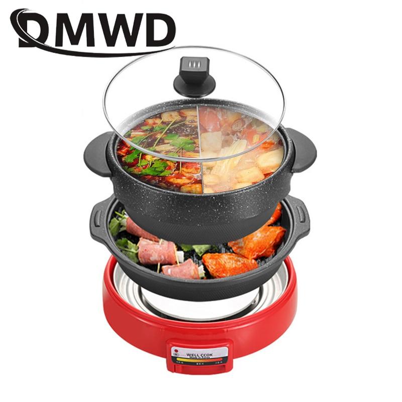 مقلاة متعددة الوظائف من Teppanyaki ، فرن كهربائي ، شواية كورية ، موقد حساء ، مقلاة