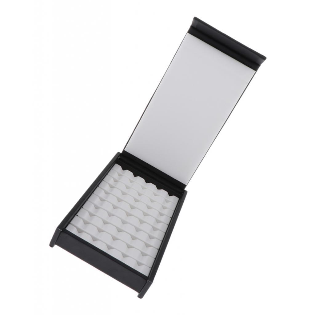 Caja de exposición de cuero PU caja de exposición joyería gema preciosa Moneda de diamante 50 rejillas
