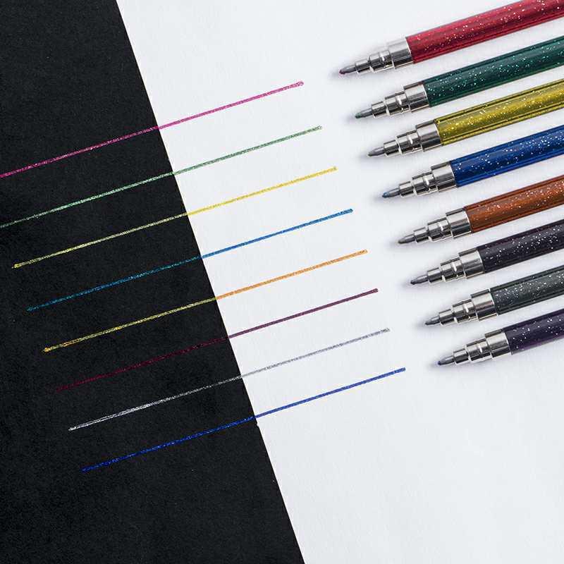 8 stücke Super Metallic farbe marker pen-set 1,0mm ball punkt liner highlighter Kalligraphie Schriftzug Zeichnung kunst album Schule f868