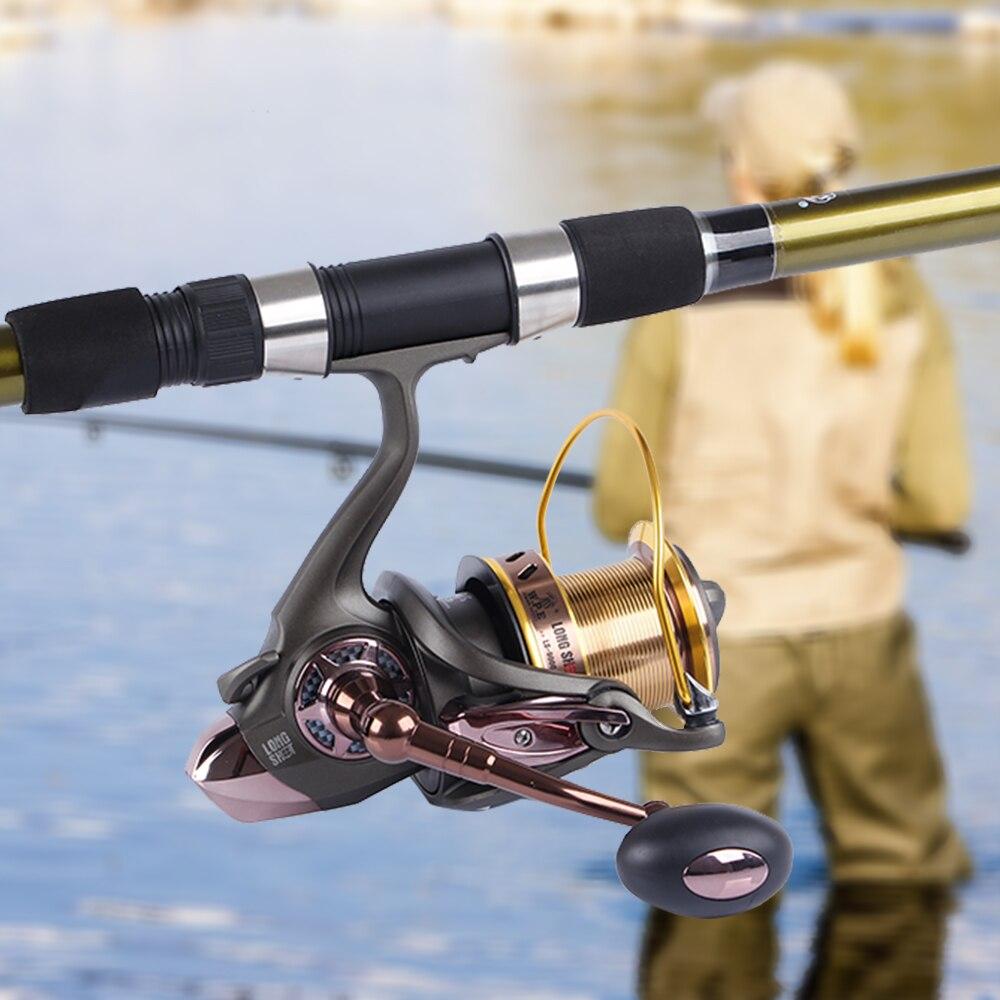 W.P.E LS Spinning Fishing Reel Series 9000 10000 Large with Large Spool Fresh Water Carp Fishing Wheel Fishing Tackle enlarge