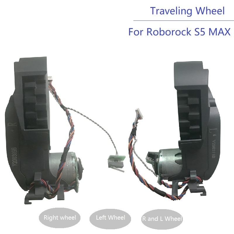 قطع غيار للمكنسة الكهربائية Roborock S5 MAX S50 MAX S55 MAX ، عجلة سفر يمين ويسار ، ملحقات جديدة ، S6 Pure