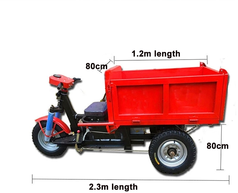 8HP electric start hydraulic engineering agricultural dump dump truck concrete cement truck enlarge