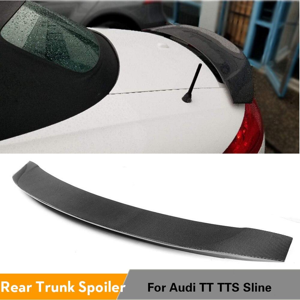 Carbon Fiber Rear Spoiler Trunk Boot Wing Lip for AUDI MK2 TT 8J TTS Sline Coupe Convertible 2-Door 2008 - 2014 Rear Spoiler