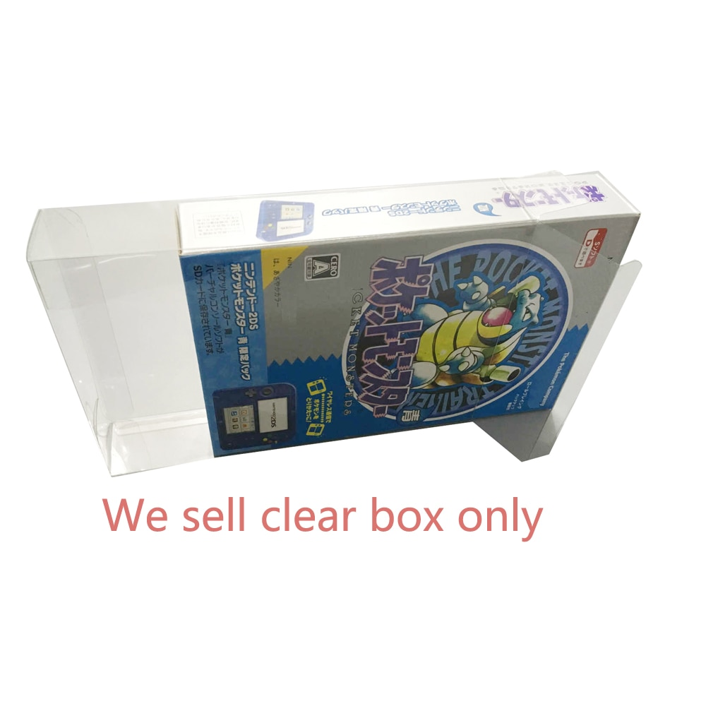 100 قطعة صندوق شفاف شفاف ل 2DS بوكيمون طبعة محدودة عرض البلاستيك PET حامي جمع تخزين واقية