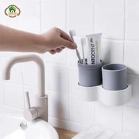MSJO     etui de voyage pour brosse a dents  plastique Portable  couvercle de tasse pour dentifrice  support mural  accessoire de salle de bain