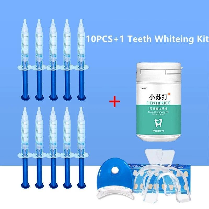 Teeth Whitening Powder Kit Whitening Powder Tooth Bleaching Gel Serum 16PCS/SET