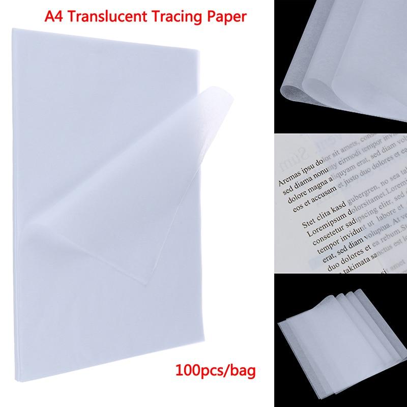 100 шт. A4 прозрачный отслеживания Бумага копия трансферная печать рисунка Бумага серной кислоты Бумага для технический чертеж/печать