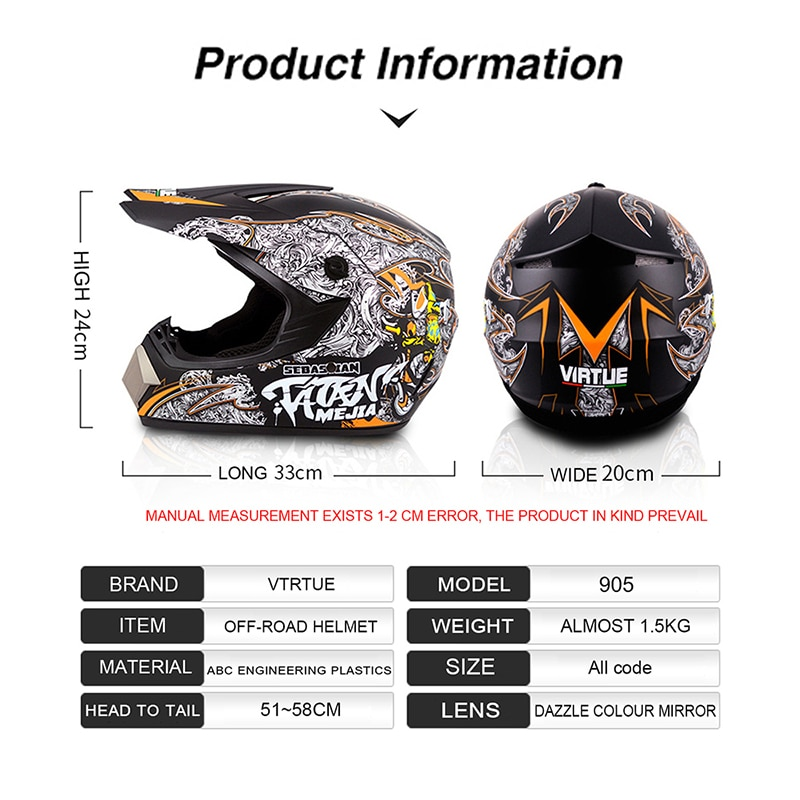 2019 Unisex Motocross Helmet Professional Motorcycle Racing Helmets Casco Motos Lightweight Off-road Full Face ABS Casque Moto enlarge