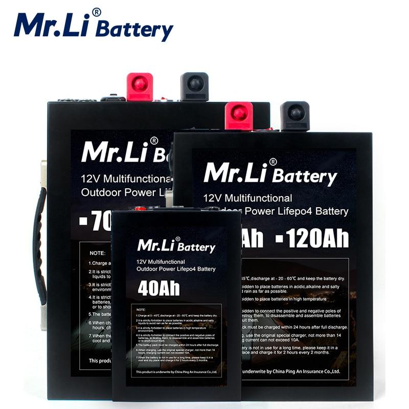 Mr.Li 12V Lifepo4 Akku Pack 12V 70Ah 120Ah Lithium-12V 40Ah Batterie Pack Bauen-in BMS Board Mit Usb-schnittstelle