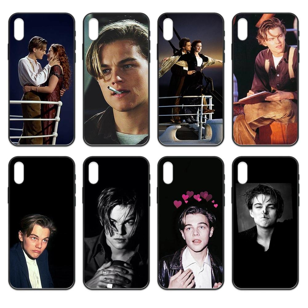 Titanic Jack Leonardo DiCaprio joven hoesjes negro caja del teléfono para iphone 4 4s 5 5S SE 5C 6S 6 7 8 plus X XS X XR 11 PRO MAX 2020