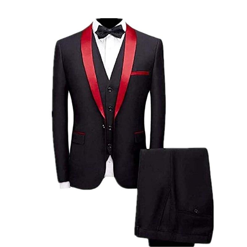 بدلة رجالية عصرية, بدلة رياضية رجالية من 3 قطع (بليزر + قميص داخلي + بناطيل)