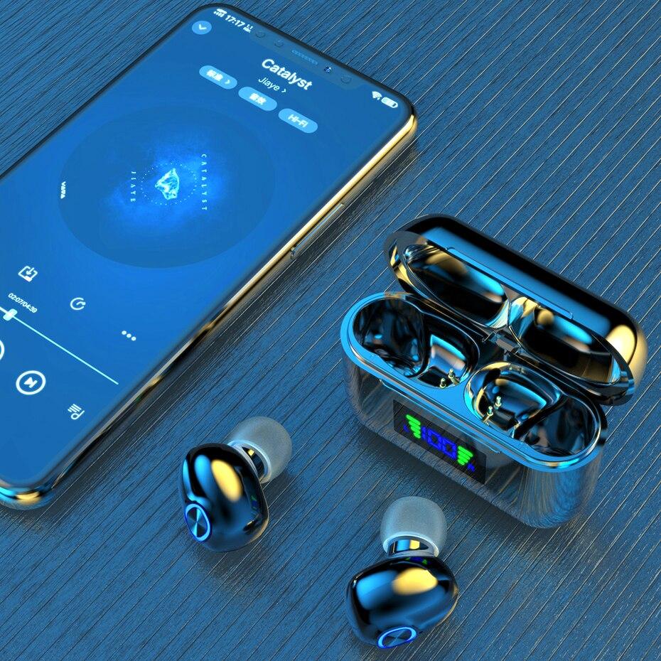 Bluetooth Wireless Headphones with Mic Sports Waterproof TWS Bluetooth Earphones key Control Wireless Headsets Earbuds Phone enlarge