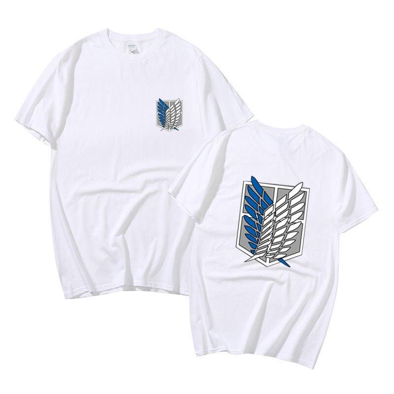 Camiseta de manga corta de dos diseños, ropa de calle de anime...