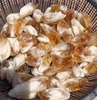 natural citrine stone yellow quartz crystal rough points bulk gemstone healing mineral specimen