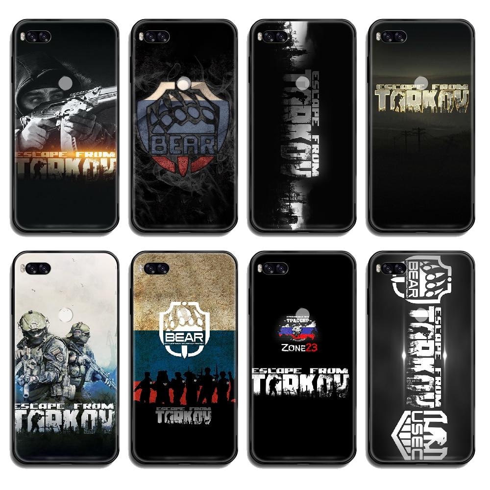 Escape de Tarkov cubierta del teléfono casco para Xiaomi Redmi Mi nota 3 5 6 8 9 A1 2 Max3 Mix2 X SE Lite Pro negro hoesjes trend