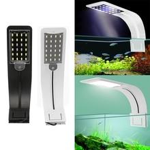 Super Slim 10W LED Waterproof Aquarium Light for Fish Tank Aquatic Plants Grow Lighting Clip-On Lamp EU Plug Cable Fish Supplies