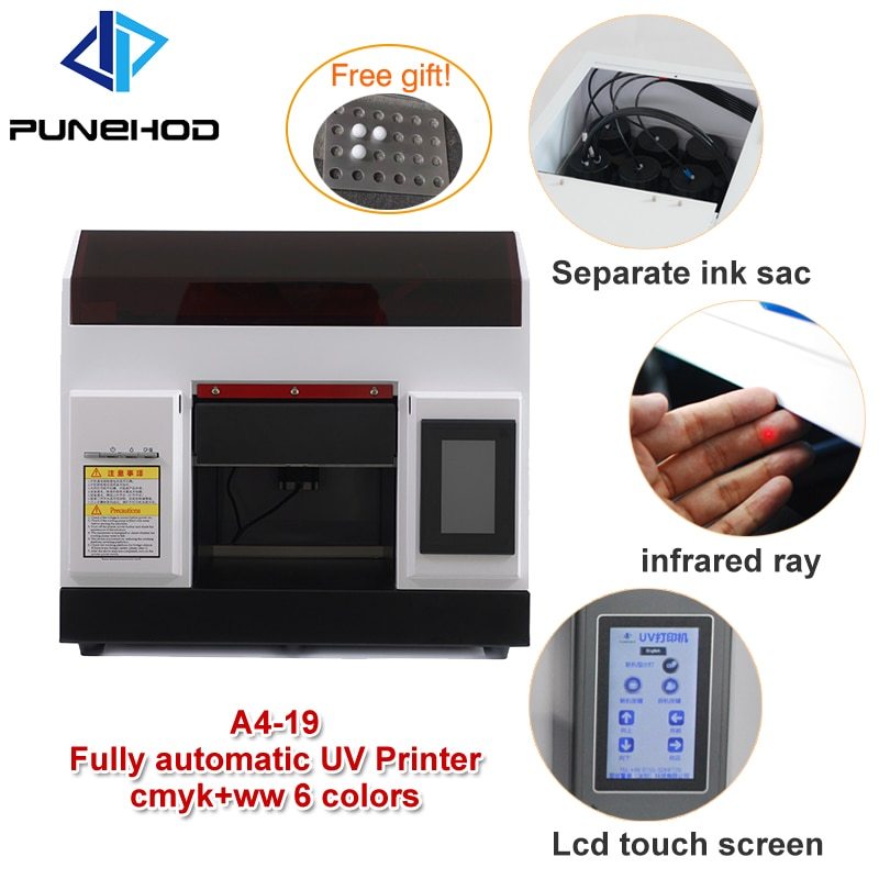 Impresora Digital UV A4 de bola de Golf para bricolaje, impresora UV de madera plana automática