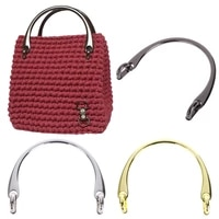 1pc 12085mm alloy bag handle replacement bag shoulder strap for diy craft handbag purse handle bag making accessories