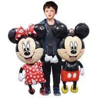 giant cartoon mickey minnie mouse foil balloons birthday party decorations disney globos baby shower decor kids toys air balloon
