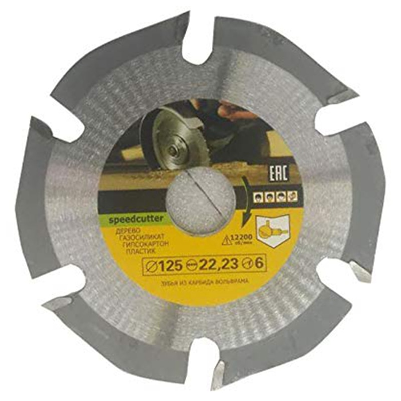 125mm 6T Circular Saw Blade Multitool Grinder Saw Disc Carbide Tipped Wood Cutting Disc Carving Disc Blades for Angle Grinders tovia 125mm carbide saw blades wood cutting disk cutting wood saw disc multitool wood cutter angle grinder for wood