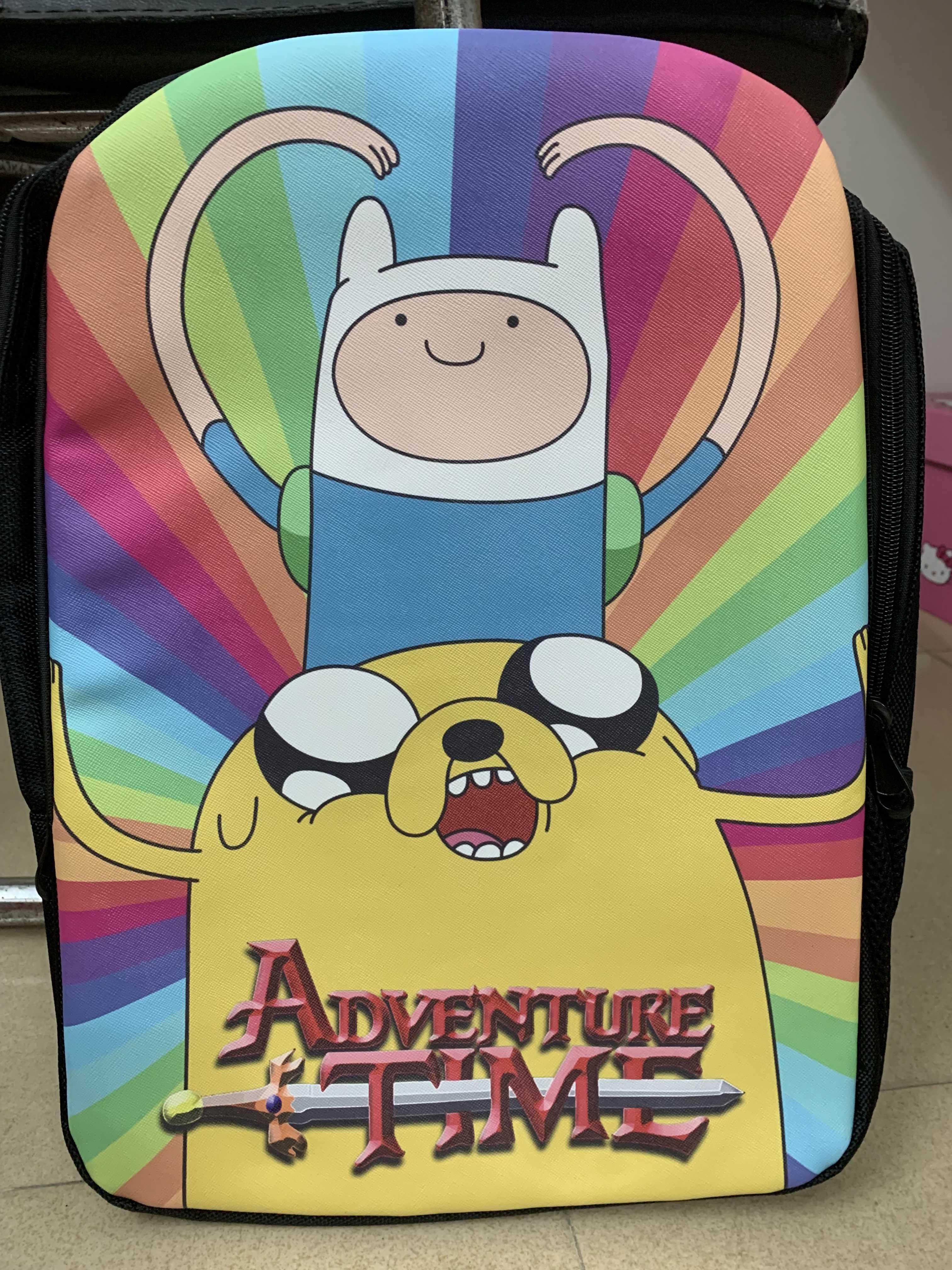Clearance Sale Adventure Time Backpack bmo finn jake School Bags shoulder bag Laptop travel bag rucksack
