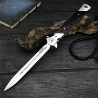 swordfish folding blade knife 440c steel ebony wooden handle outdoor camping tactical utility survival self defense thin tools