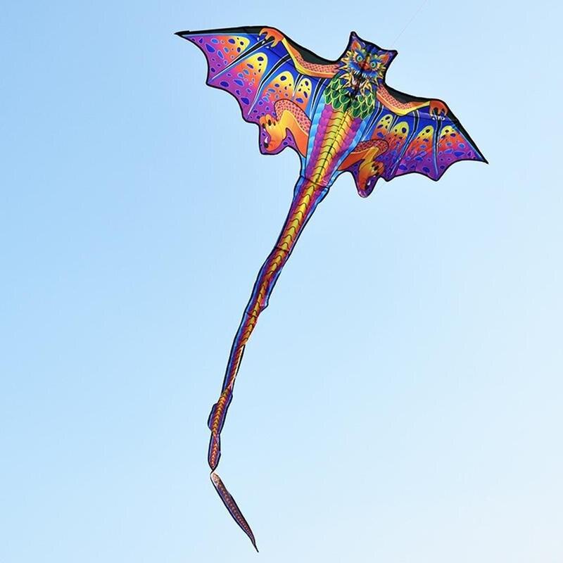 Фото - 3D змей-дракон для детей, развлечения на открытом воздухе, спортивные пляжные игрушки, нейлоновый змей, летающий детский змей, детский подаро... огненный змей