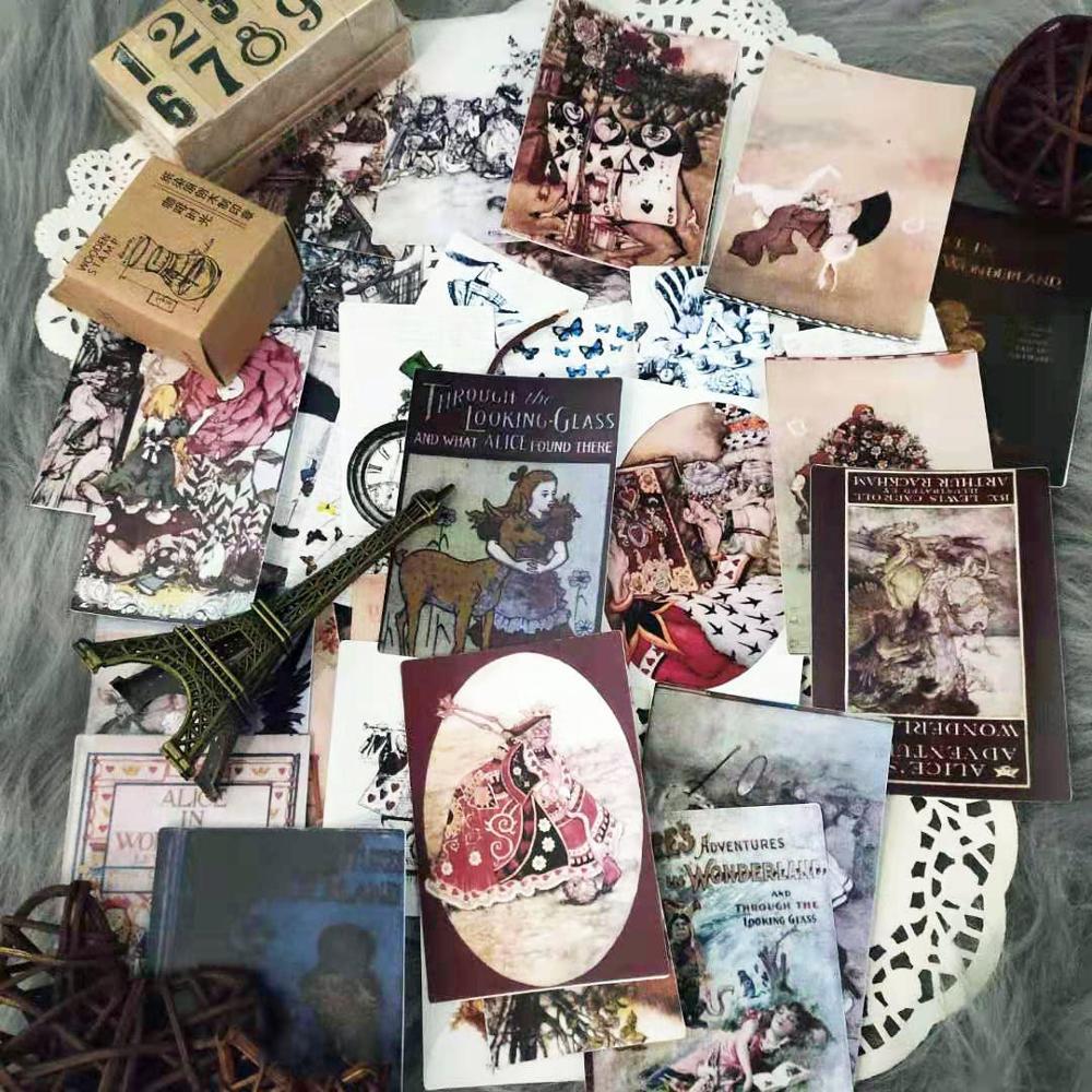 43-pcs-\-set-retro-alice-poker-ragazza-carina-\-coniglio-\-fungo-lettera-materiale-ufficiale-sfondo-scrapbooking-decorazione-fai-da-te-adesivi