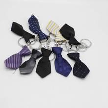 Kleine krawatte keychain Geschenk kleine krawatte anhänger großhandel Handwerk kleine krawatte anhänger (zufällige farbe)