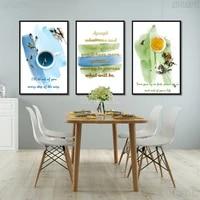Toile de peinture nordique minimaliste pour cuisine  Art de la mode  cafe  the  tableau mural  decoration moderne de la maison  affiches et imprimes
