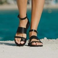 2021 women sandals bohemian soft comfort non slip sandals fashion casual open toe ankle buckle beach flip flops retro sandals