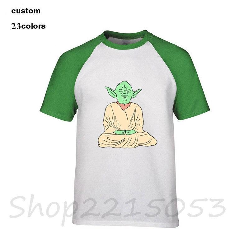 Camiseta de Yoga Let It Go, camiseta de meditación partes de arriba con diseño de La Guerra de Las Galaxias el rey Darth, camiseta de hombre DJ, camiseta de Buda India Shiva The God, camisetas negras para hombre