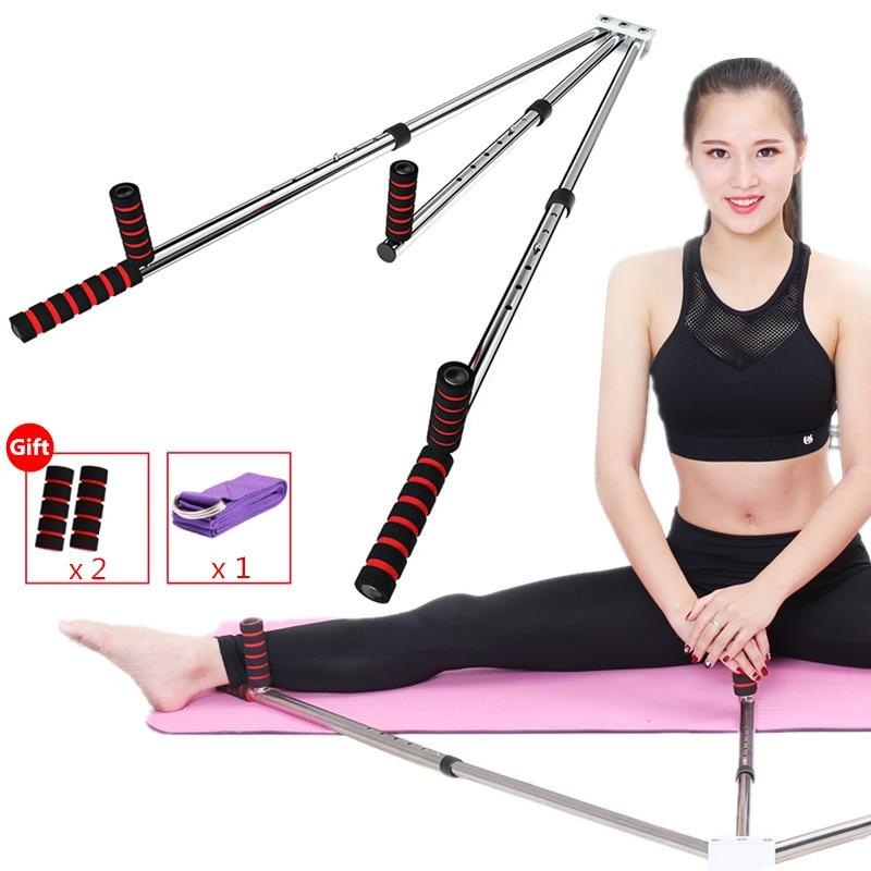 Estirador de pierna de acero inoxidable pierna Split máquina de estiramiento flexibilidad de extensión para niños adultos Yoga danza Ballet gimnasia