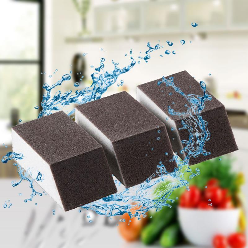 Éponge magique forte en alumine 1/5/10 pièces   Brosse de nettoyage, bol à vaisselle, éponge de lavage, casserole de cuisine, ustensiles de nettoyage de vitres