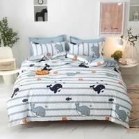 kuup cute cartoon bedding set soft bed linen sheet cat duvet cover 240x220 single double queen king quilt covers sets bedclothes