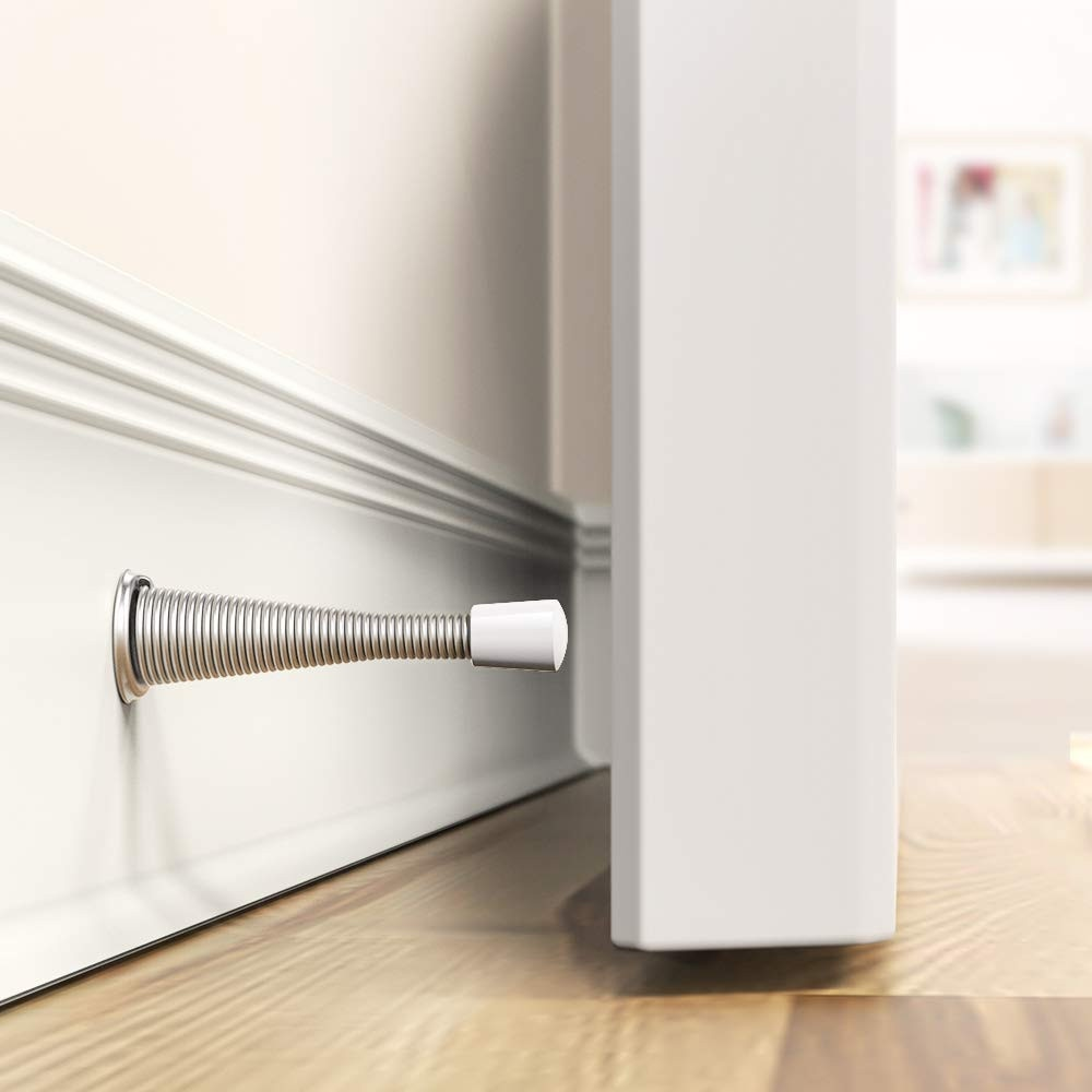 20 #1 pc tope de resorte de puerta de pared tapón decorativo para puerta proteger puertas y pared hogar tapón de la puerta