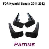 4 pcs set molded mud flaps mudflaps splash guards front rear mud flap mudguards fender for hyundai sonata 2011 2013 yc101192