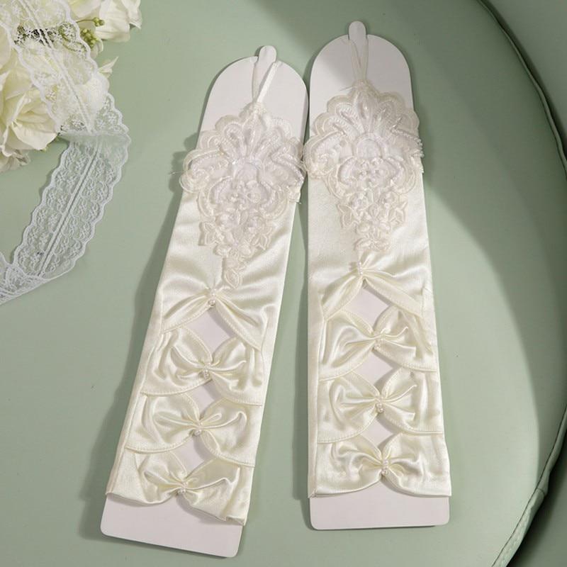 Blanco guantes De boda color marfil guantes para novia sin dedos para mujer De novia guantes Luva De novia boda accesorios ST233
