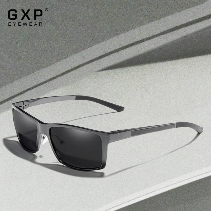 GXP 2021 Polarized Sunglasses For Men Square Aluminum Magnesium Frame Sun Glasses Male Driving UV400