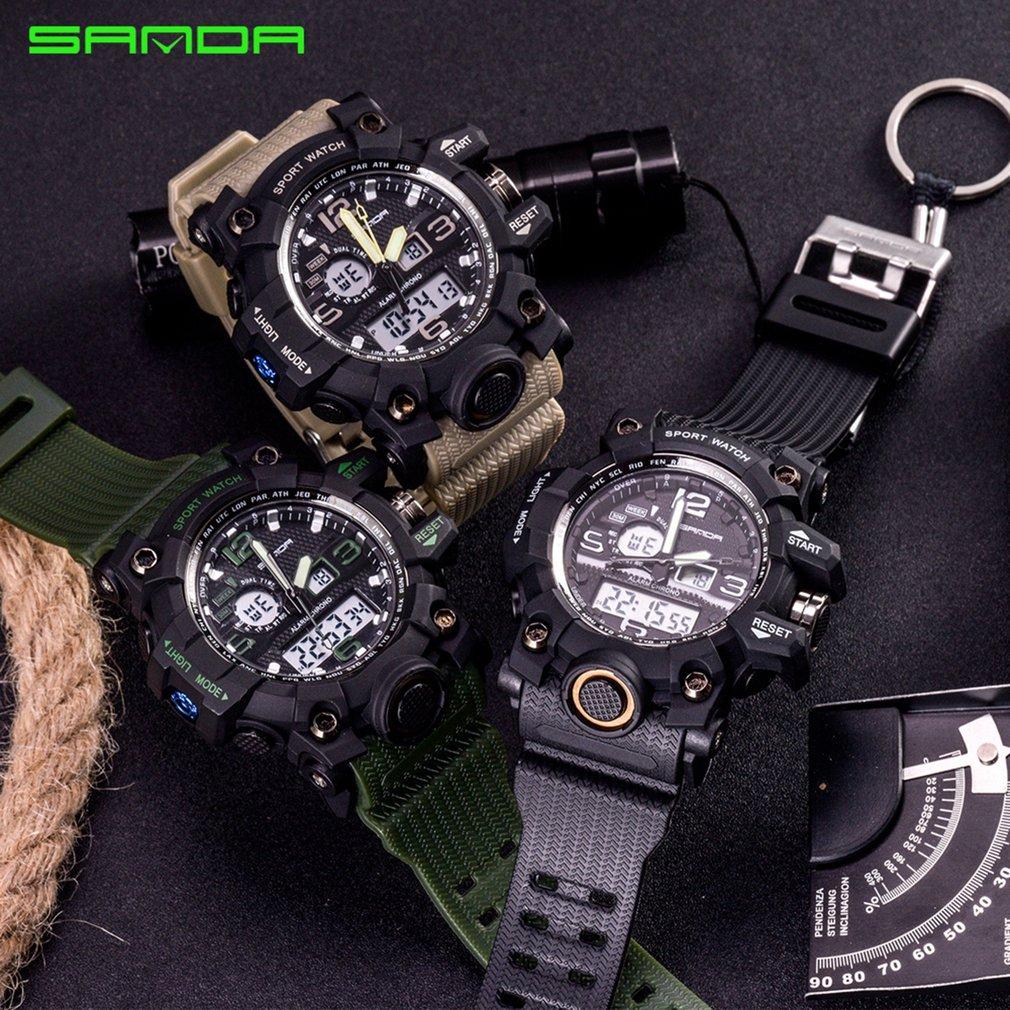 742 Watch 30m Waterproof Military Shock Quartz Wristwatch Luminous Analog Digital Fashion Outdoor Sport Watch for Men enlarge