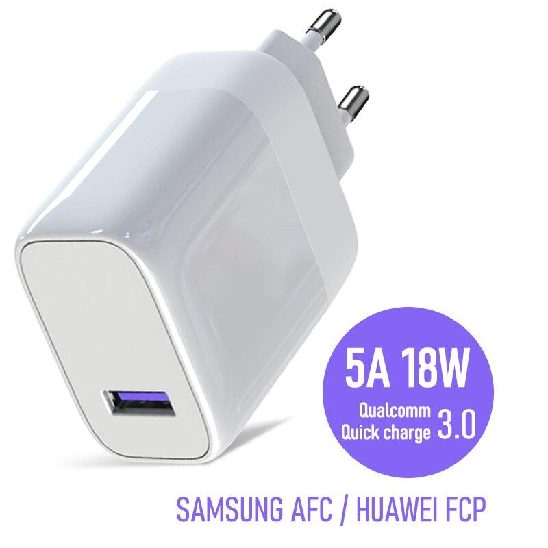 ¡Cargador de pared USB de 5A 4,5 V para móvil de adaptador de enchufe para EU EE! UU... Kingdom-carbono superrápida, cargador de
